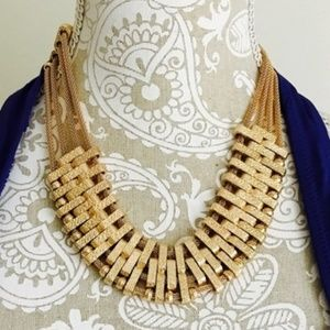 NOWT Steve Madden Gold Statement Necklace
